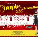 Jogoya: October Couple Promotion Buy 1 Free 1