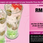 Pizza Hut Hot Coupon: RM2 for any Two Mocktails