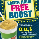 Boost Juice Bars: Free Boost Giveaway during Earth Hour