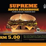 Burger King: Supreme Angus Steakhouse Black Pepper Burger @ RM5 only
