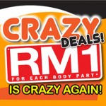 The Bizzy Body: Crazy Deals RM1 For Each Body Part