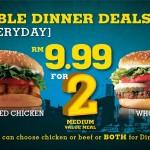 Burger King: RM 9.99 FOR 2 Medium Value Meal