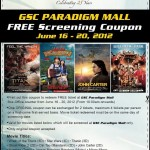 Golden Screen Cinemas: Print and Redeem Free Movie Tickets