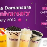 Chatime: Buy 1 Free 1 and Free Upgrade Promotion