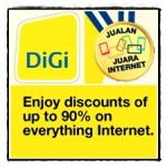 DiGi's Jualan Juara Internet: Promotion Up to 90% Off!!