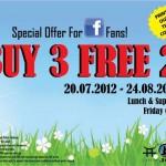 Jogoya Buffet Restaurant: Buy 3 Free 2 Promotion