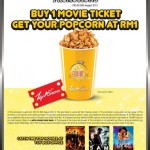 TGV Cinemas: Buy 1 Movie Ticket and get Popcorn @ RM1