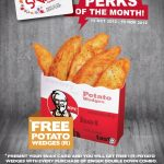 KFC Snax Card: Free Potato Wedges with Purchase