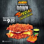 KFC: Enjoy Zinger Double Down Combo Special @ RM 9.95 only!!