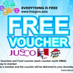 FreeGive: Register and stand a chance to win vouchers