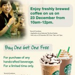 Starbucks: Free RM20 Preloaded Card Giveaway and Buy 1 Free 1 Promotion