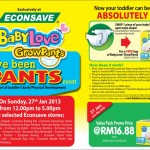 BabyLove : Free Brand GrowPants Regular Pack Giveaway!!