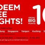 Air Asia: BIG Members Redeem Free Flights Promotion