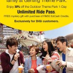 Genting: 1-day Outdoor Theme Park with Unlimited Ride Passes @ 30% Discount!!