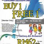 Jogoya Buffet Restaurant Gentlemen Exclusive Deal: Enjoy Buy 1 Free 1 Promotion!!