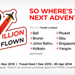 Air Asia 200 Million Guests Flown Promotion: Fly from only RM2!!