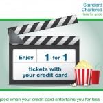 Standard Chartered: Enjoy Buy 1 Free 1 Golden Screen Cinemas Movie Tickets!!