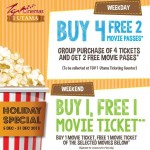 TGV Cinemas Holiday Special: Enjoy Buy 1 Free 1 Movie Ticket Promotion!!
