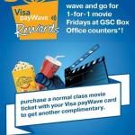 Visa payWave: Enjoy Buy 1 Free 1 Golden Screen Cinemas Movie Ticket!!