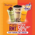 Chatime Malaysia: Enjoy Second Cup of Drink for only RM1 Promotion 2014!!