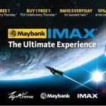 TGV Cinemas: Buy 1 Free 1 for IMAX and Standard Halls Movie Tickets!!