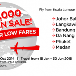 Air Asia Malaysia Promotion 1,500,000 Seat On Sale: Fly from only RM5!