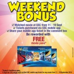 Golden Screen Cinemas GSC Malaysia Promotion Weekend Bonus: FREE Movie Passes Giveaway!