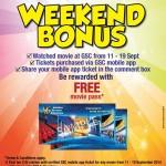 Golden Screen Cinemas GSC Malaysia Promotion Weekend Bonus: FREE Movie Passes Giveaway!