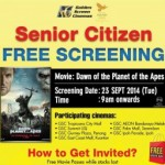 Golden Screen Cinemas Malaysia Promotion: Free Screening Giveaway Promotion 2014