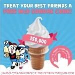 LINE Free Sundae Cone Giveaway Malaysia Promotion