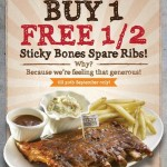 Morganfield's Malaysia Promotion: Enjoy Buy 1 Free Half Promotion!