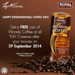 TGV Cinemas FREE can of Wonda Coffee Giveaway Promotion!