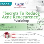 Eucerin Workshop FREE Goodies Bag RM150 Giveaway Promotion Malaysia