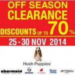 Hush Puppies Off Season Clearance Sale Promotion Malaysia Nov 2014