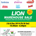 LION Malaysia Warehouse Sale Dec 2014 Promotion