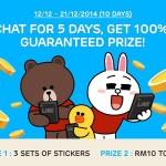 LINE Malaysia 100% Guaranteed Prizes Giveaway