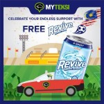 MyTeksi Malaysia Promo FREE Revive Isotonic 6-Can Pack Giveaway