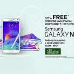Samsung Galaxy Life App FREE O'Briens Value Meal Giveaway Promotion Malaysia