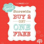 THEFACESHOP Malaysia Outlet Promotion Storewide Buy 2 FREE 1 2014 / 2015