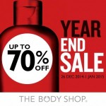 The Body Shop Year End Sale Discount up to 70% 2014 / 2015