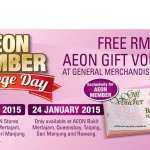 AEON Member Privilege Day FREE RM10 Voucher Giveaway
