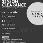 Off Season Clearance Branded Appareal, Shoes and Bags Sale!