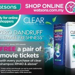 CLEAR FREE a pair of Movie Tickets Giveaway