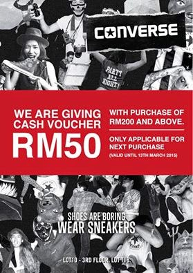 Converse Malaysia FREE Cash Voucher Giveaway