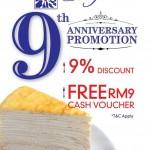 Nadeje Malaysia Outlets FREE RM9 Cash Voucher Giveaway!