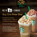 Starbucks Buy 1 FREE 1 Promotion at ALL Starbucks outlets Malaysia