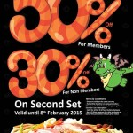 Bar B Q Plaza Malaysia Outlets at 50% Discount Promotion