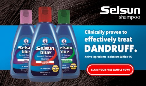 Selsun Blue Dandruff Shampoo FREE Trial Samples Giveaway