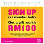 The Body Shop FREE Gift worth RM100 Giveaway!