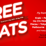 Air Asia FREE Seats Promotion 2016 with no fuel surcharge!